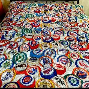 Vintage 1994 MLB Baseball Comforter Blanket Logos